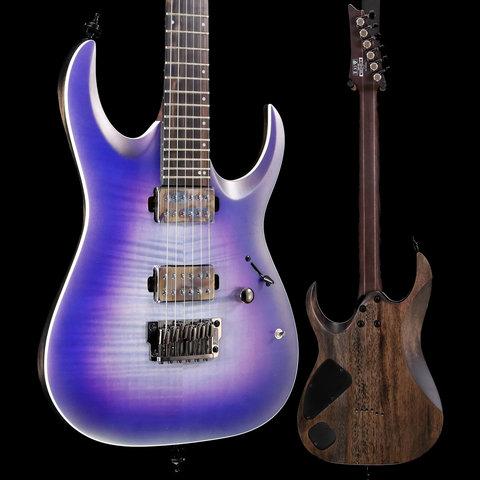 Ibanez RGA61ALIAF RGA Axion Label 6str Electric Guitar - Indigo Aurora Burst Flat S/N I190321344 7lbs 9.8oz
