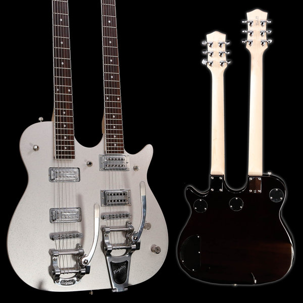 Gretsch Guitars Gretsch G5265 Electromatic Jet Double Neck Silver Sprkl CYG19041787 13lbs 12.2oz USED