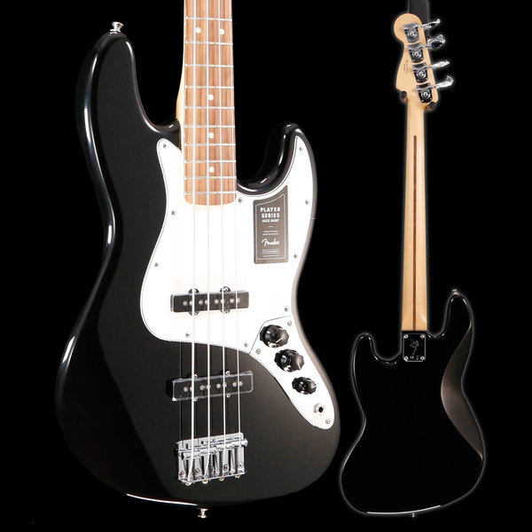 Fender Fender Player Jazz Bass, Pau Ferro Fingerboard, Black S/N MX19025782, 9lbs 0.9oz