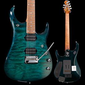 Music Man Ernie Ball Music Man John Petrucci JP-15 Piezo Quilt Teal Burst S/N G89015 7lbs 7.5oz