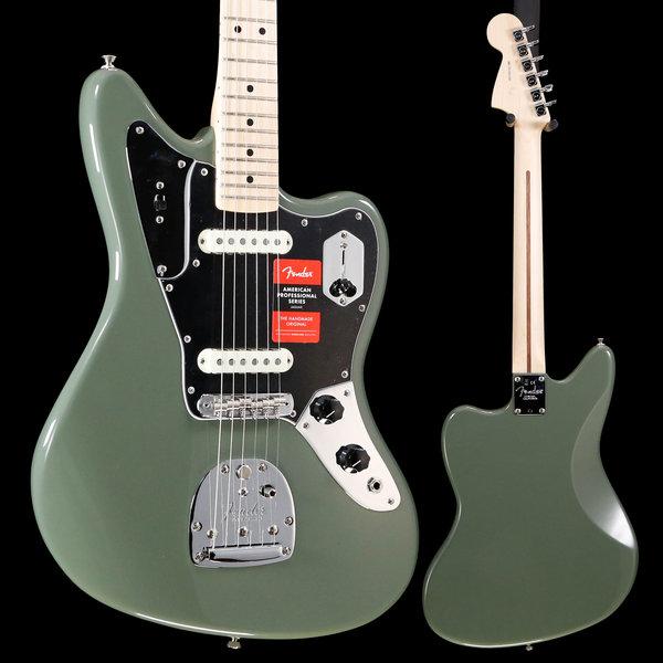 Fender American Pro Jaguar, Maple Fingerboard, Antique Olive S/N US19022569 8lbs 7oz