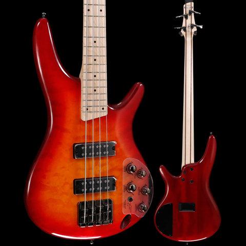 Ibanez SR400EMQMSRT SR Standard 4str Electric Bass - Sunrise Red Burst S/N 190404707 7lbs 13.2oz