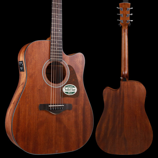 Ibanez Ibanez AW54CEOPN Artwood Acoustic Electric Guitar Open Pore Mahogany S/N 190513312 4lbs 5.8oz