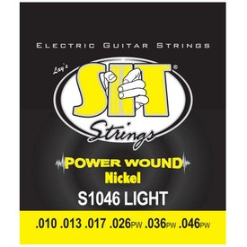 SIT SIT S1046 Light Power Wound Nickel Electric Guitar Strings .010-.046