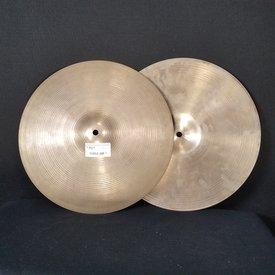 """Zildjian Cymbals Used 14"""" Pair Zildjian HiHats Hi Hats"""
