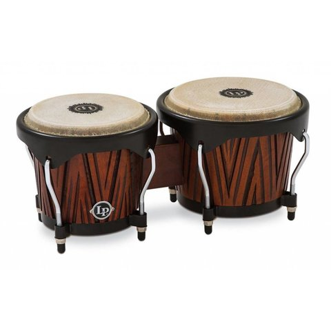 LP City Bongos - Carved Mango Wood
