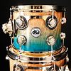 DW Drum Workshop Collector's Series Candy Regal Blue Fade Quilted Moabi w Gold