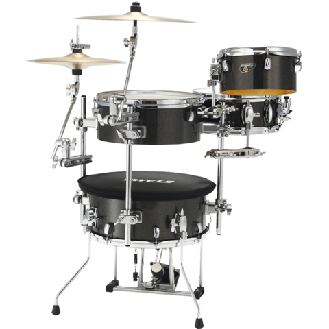 TAMA Cocktail-JAM  4-piece shell pack w/ hardware Midnight Gold Sparkle
