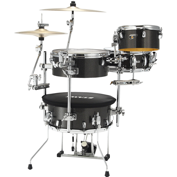 TAMA TAMA Cocktail-JAM  4-piece shell pack w/ hardware Midnight Gold Sparkle