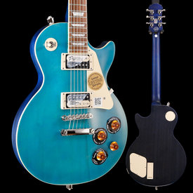 Epiphone Epiphone ENT2OBSNH3 Ltd Ed Les Paul Traditional PRO-II, Ocean Blue, Nickel Hardware S/N 18021505871 8lbs 4.6oz