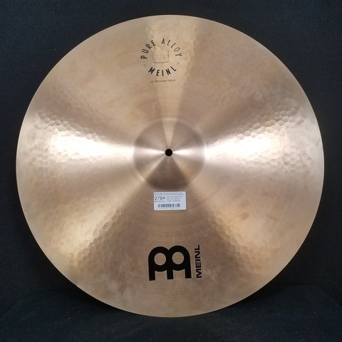 Meinl Cymbals Pure Alloy 22'' Medium Crash Traditional - New w/ Minor Blemish
