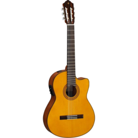 Yamaha Yamaha CGX122MSC Acoustic Electric Classical Guitar w/ Solid Spruce Top S/N HPJ250012