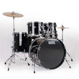 Natal Natal DNA UF22 Black 5 Piece Drumset w/ Hardware & Cymbals