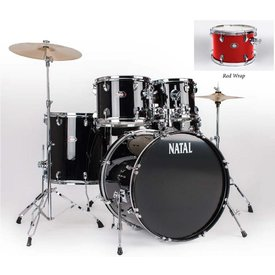 Natal Natal DNA UF22 Red 5 Piece Drumset w/ Hardware & Cymbals