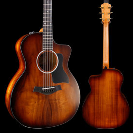 Taylor Taylor 224ce-K DLX Koa Grand Auditorium Acoustic-Electric, Shaded Edgeburst S/N 2106199591 4lbs 14.7oz