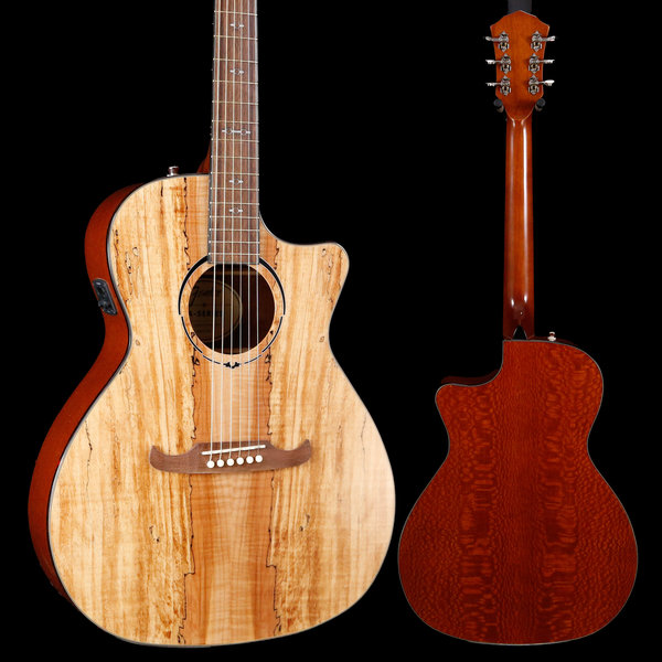 Fender 2019 Limited Edition FA-345CE Auditorium, Spalted Maple Top S/N IWA1922106 4lbs 8.6oz