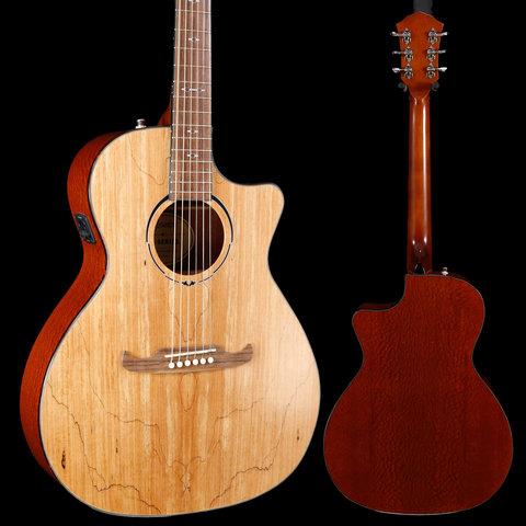 Fender 2019 Ltd Ed FA-345CE Auditorium, Spalted Maple Top IWA1922113 4lbs 6.4oz
