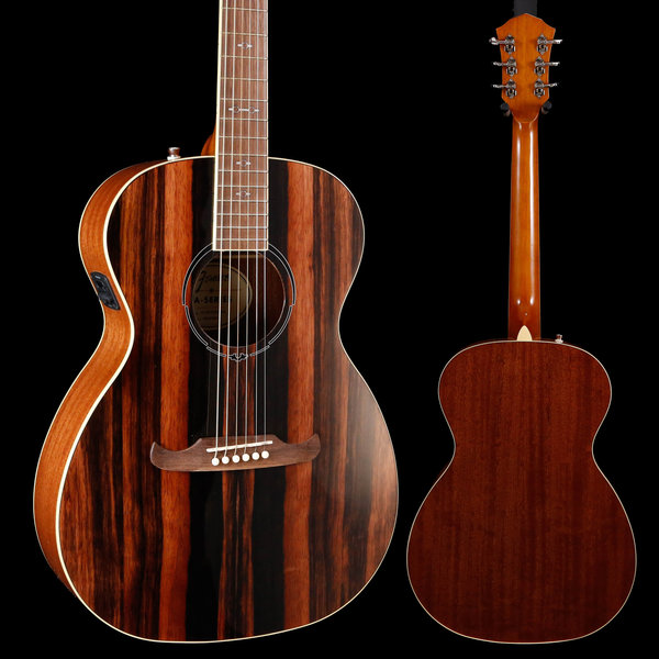 Fender 2019 Limited Edition FA-235E Concert, Striped Ebony Top S/N IWA1922824 4lbs 2.4oz
