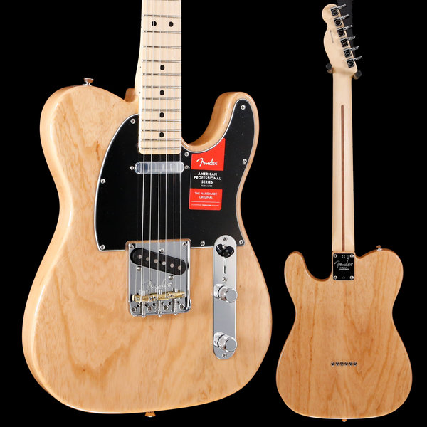 Fender American Pro Telecaster, Maple Fingerboard, Natural S/N US19052293 7lbs 8.8oz