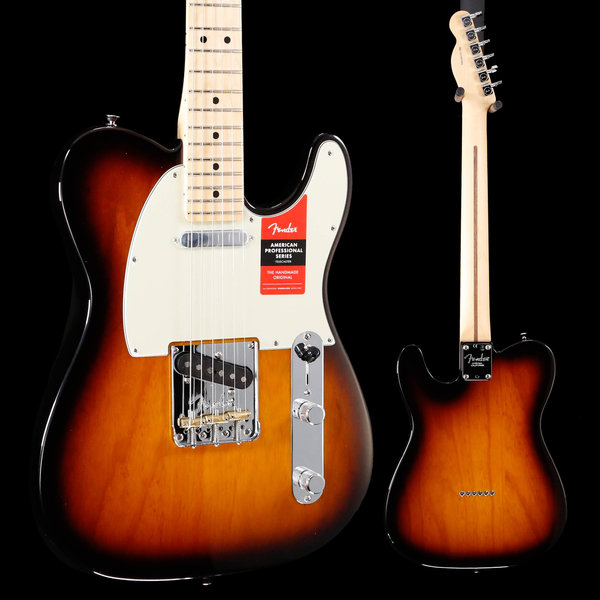 Fender American Pro Telecaster, Maple Fingerboard, 2-Color Sunburst S/N US19057604 7lbs 9.6oz