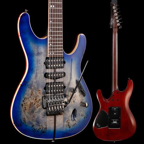 Ibanez S Premium 6str Electric Guitar w/Case - Cerulean Blue Burst S/N I190520937 6lbs 13.6oz