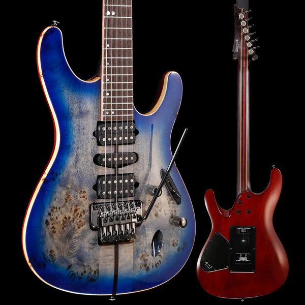 Ibanez Ibanez S Premium 6str Electric Guitar w/Case - Cerulean Blue Burst S/N I190520937 6lbs 13.6oz