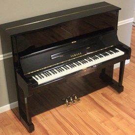 """Yamaha Yamaha U1 48"""" Polished Ebony Studio Upright Piano"""