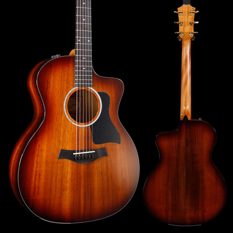 Taylor 224ce-K DLX Koa Grand Auditorium Acoustic-Electric, Shaded Edgeburst S/N 2107199033 4lbs 13.9oz