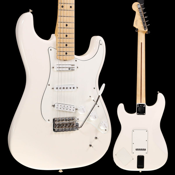 Fender Ed O'Brien EOB Stratocaster, Maple Fingerboard, Olympic White S/N MX19023304 8lbs 1.7oz