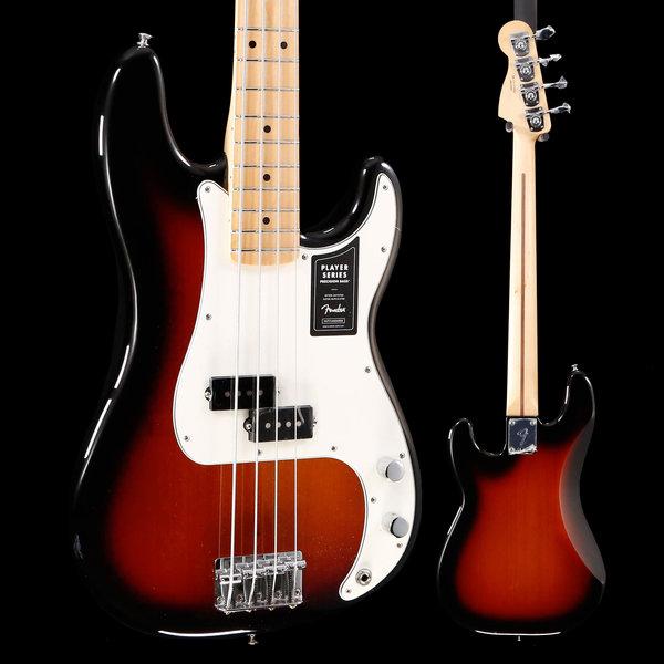 Fender Player Precision Bass Maple Fingerboard 3-Color Sunburst S/N MX19098664 8lbs 8.5oz