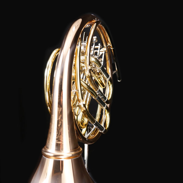 Conn Conn 11DRES Symphony Profess F/Bb Double French Horn, Screw-On Bell, Red Brass