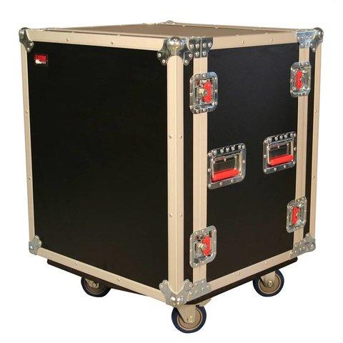 Gator G-TOUR SHK12 CA 12U Shock Audio Road Rack Case w/ Casters
