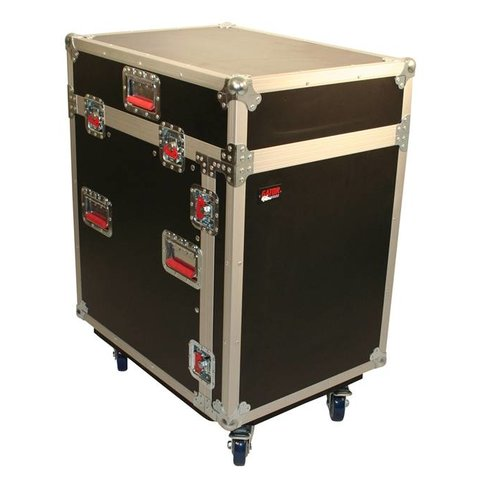 Gator G-TOUR-GRC12X12 12U Top, 12U Side Audio Road Console Rack