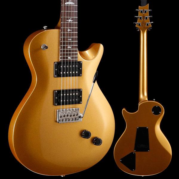 PRS PRS Paul Reed Smith SE Santana Singlecut Tremolo Egyptian Gold Metallic S/N CTIB15416
