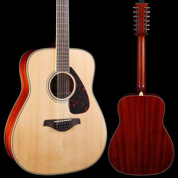 Yamaha Yamaha FG820-12 Natural Folk Guitar Solid Top 12-String 026 4lbs 14oz