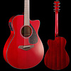 Yamaha FSX800C RR Ruby Red Small Body Acoustic Electric Guitar Solid Top S/N HPO201561 4lbs 4.8oz