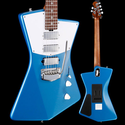 Ernie Ball Music Man St. Vincent Roasted Maple Rosewood, Blue 619 6lbs 13.3oz