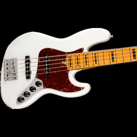 Fender American Ultra Jazz Bass V, Maple Fingerboard, Arctic Pearl