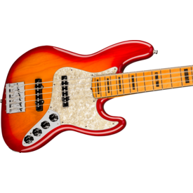 Fender Fender American Ultra Jazz Bass V, Maple Fingerboard, Plasma Red Burst