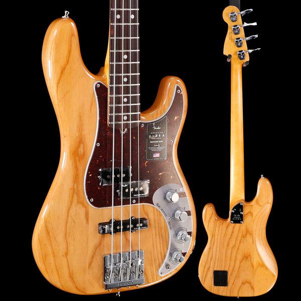Fender Fender American Ultra Precision Bass Rw Fb, Aged Natural US19098693 9lbs 8.3oz