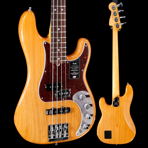 Fender Fender American Ultra Precision Bass, Rw Fb, Aged Natural US19084532 9lbs 6.1oz