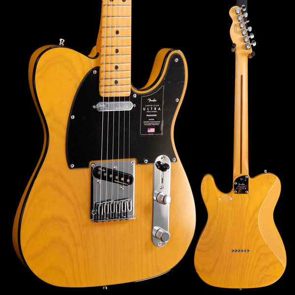 Fender Fender American Ultra Telecaster Maple Fb, Butterscotch US19077234 7lbs 8.5oz
