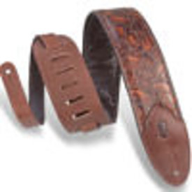 "Levy's Leathers Levy's M4WP-006 3"" Wide Embossed Leather Guitar Strap"