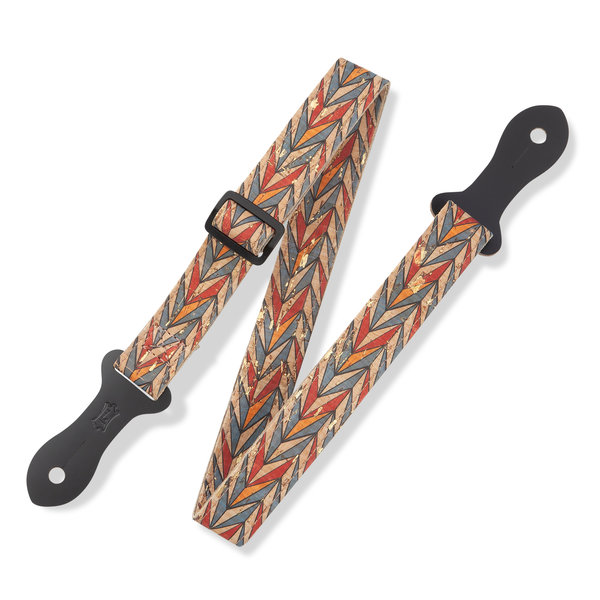 """Levy's Leathers Levy's MX23ALL-002 1"""" Wide Cork Mando/Uke/Guitar Strap"""