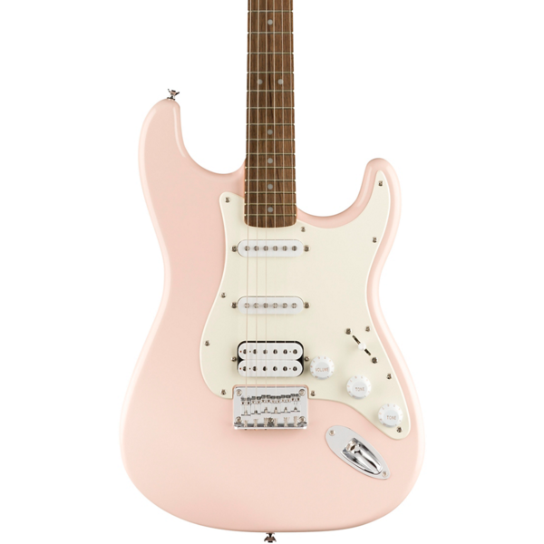 Squier Squier Bullet Stratocaster HSS Hard Tail, Laurel Fingerboard, Shell Pink