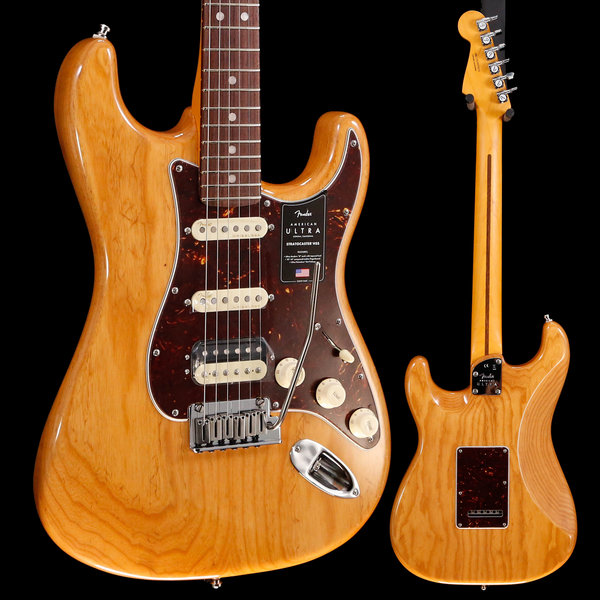 Fender Fender American Ultra Stratocaster HSS Rw Fb, Aged Natural US19074214 8lbs 7.1oz
