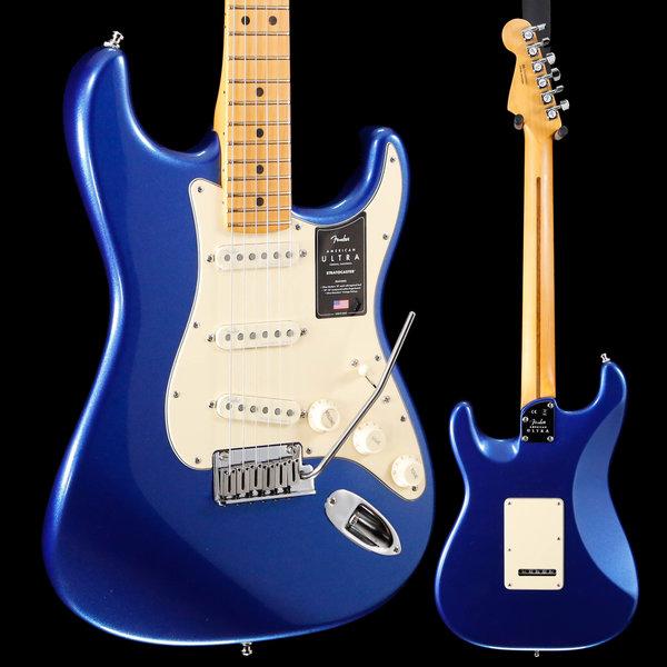 Fender Fender American Ultra Stratocaster Maple Fb, Cobra Blue US19097953 7lbs 14.4oz