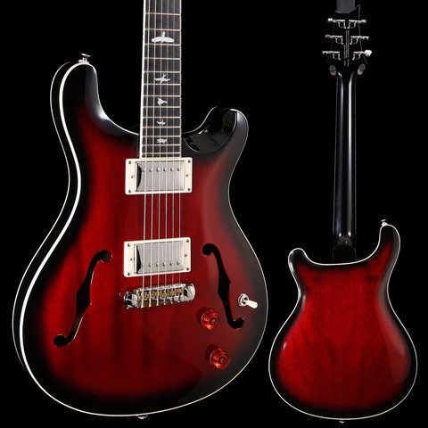 PRS Paul Reed Smith SE Hollowbody Standard, Wide Fat Neck, Fire Red 837 5lbs 15.9oz