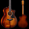 Taylor 224ce-K DLX Koa Grand Auditorium Acoustic-Electric, Shaded Edgeburst 192 4lbs 10.1oz