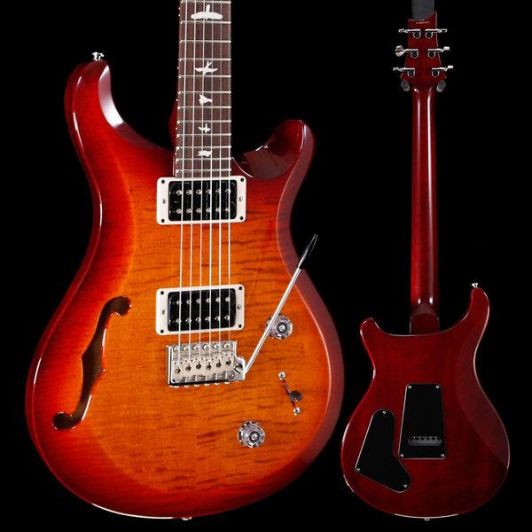 PRS PRS Paul Reed Smith S2 Custom 22 Semi-Hollow, Dark Cherry Sunburst 243 6lbs 7.8oz